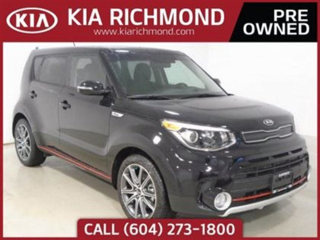 2017 KIA SOUL SX Turbo Navigation Red Stitching Leather Seat in Richmond, British Columbia