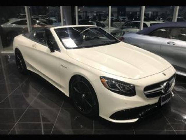 2017 MERCEDES-BENZ S-CLASS S63 AMG 4MATIC Cabriolet in Mississauga, Ontario