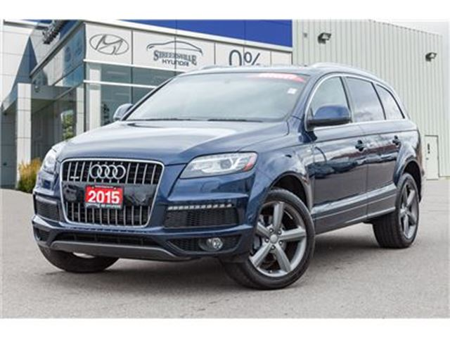 2015 AUDI Q7 3.0T Sport Quattro Leather Panoramic roof Alloys N in Mississauga, Ontario