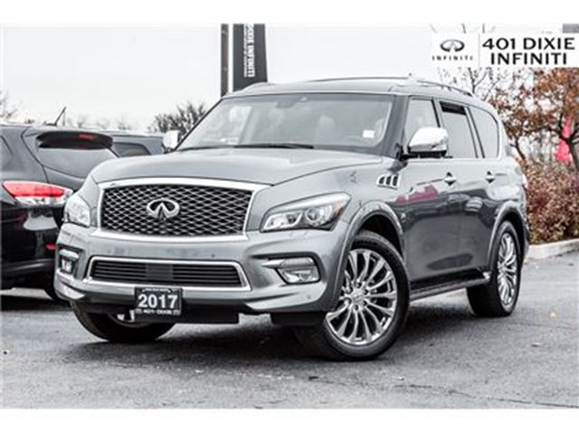 2017 INFINITI QX80 4WD, Technology Package, 8 Pass! DVD! in Mississauga, Ontario