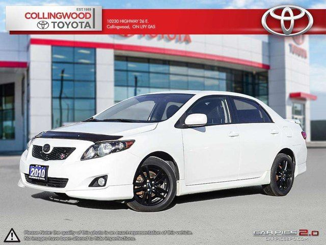 2010 Toyota Corolla S WITH LEATHER AND MOONROOF PACKAGE in Collingwood, Ontario