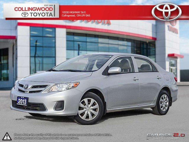 2013 Toyota Corolla CE SOLD AND SERVICED HERE in Collingwood, Ontario