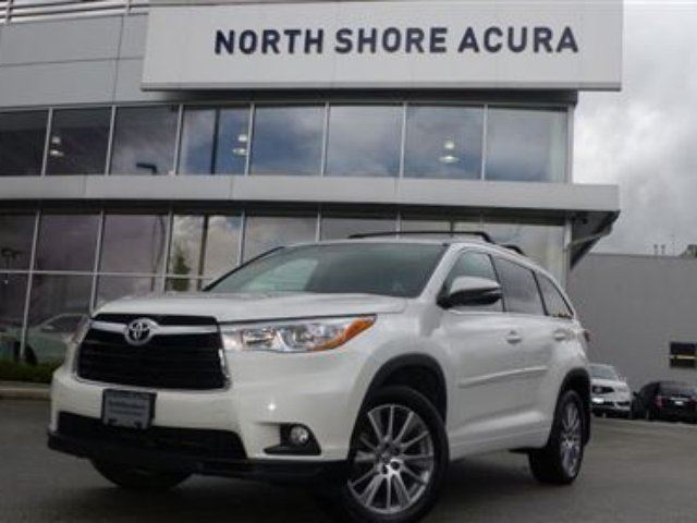 2015 TOYOTA HIGHLANDER XLE AWD in North Vancouver, British Columbia