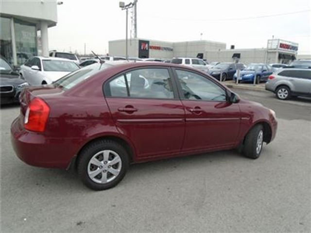 2008 HYUNDAI ACCENT 4dr Sdn AUTO GLS  AUX NO ACCIDENTS PL PW PM SAFETY in Oakville, Ontario