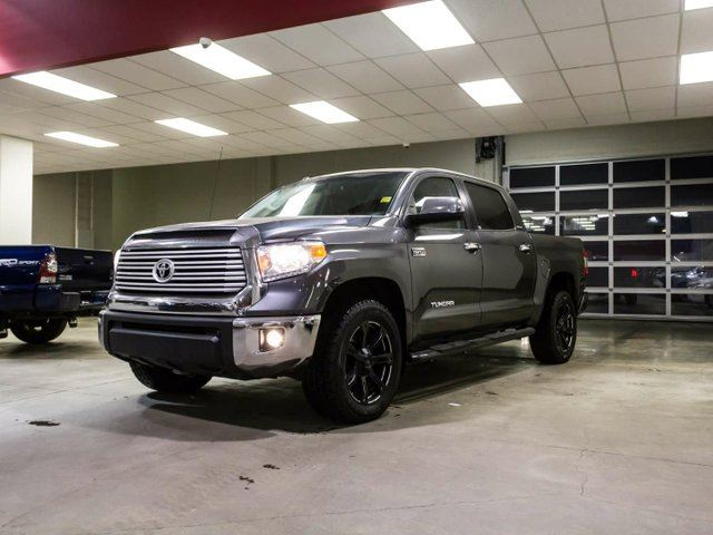 2015 TOYOTA Tundra Limited, 3M Hood, DT Rims, Running Boards, Navigation, Leather, Heated Seats, Sunroof, Touch Screen, Back Up Camera, Bluetooth, 5.7L V8, 4x4, CrewMax in Edmonton, Alberta