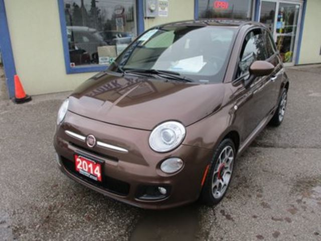 2014 FIAT 500 FUEL EFFICIENT 'SPORT-EDITION' 4 PASSENGER 1.4L in Bradford, Ontario