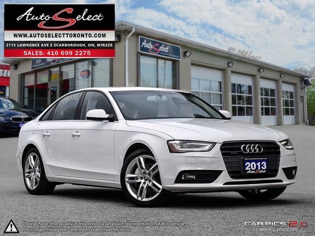 2013 Audi A4 Quattro AWD ONLY 91K! **NAVIGATION PKG** LED LIGHTING PKG in Scarborough, Ontario