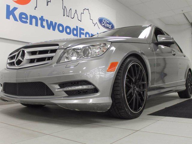 2011 MERCEDES-BENZ C-CLASS C300- NAV, sunroof, heated power leather seats, back up cam in Edmonton, Alberta