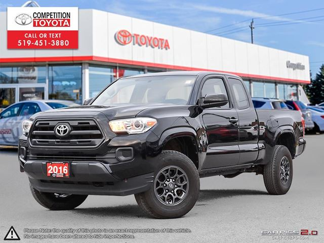 2016 Toyota Tacoma SR+ SR5, One Owner, No Accidents, Toyota Serviced in London, Ontario