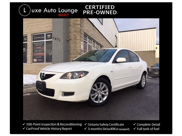 2009 Mazda MAZDA3 GS - LOW KM! AUTO, A/C, CRUISE, CD/MP3, POWER GROUP, KEYLESS! LUXE CERTIFIED SELECT PRE-OWNED! in Orleans, Ontario