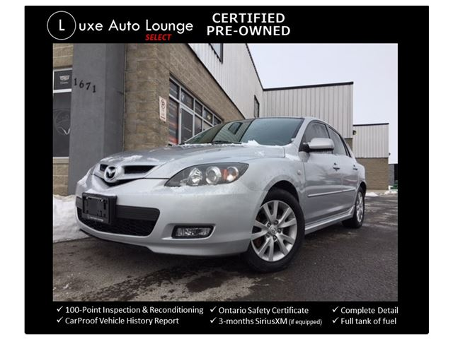 2008 Mazda MAZDA3 GS HATCHBACK 2.3L!! LOW KM! 5SPD, A/C, POWER GROUP, KEYLESS, CD/MP3, ALLOY WHEELS, LUXE CERTIFIED SELECT PRE-OWNED! in Orleans, Ontario