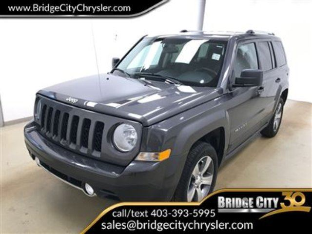2017 JEEP PATRIOT High Altitude- Leather, Heated Seats, Sunroof! in Lethbridge, Alberta