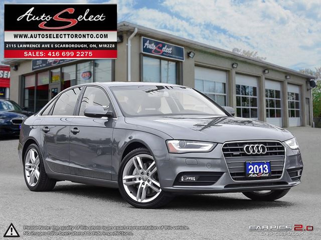 2013 AUDI A4 Quattro AWD ONLY 66K! **NAVIGATION PKG** LED LIGHTING PKG in Scarborough, Ontario