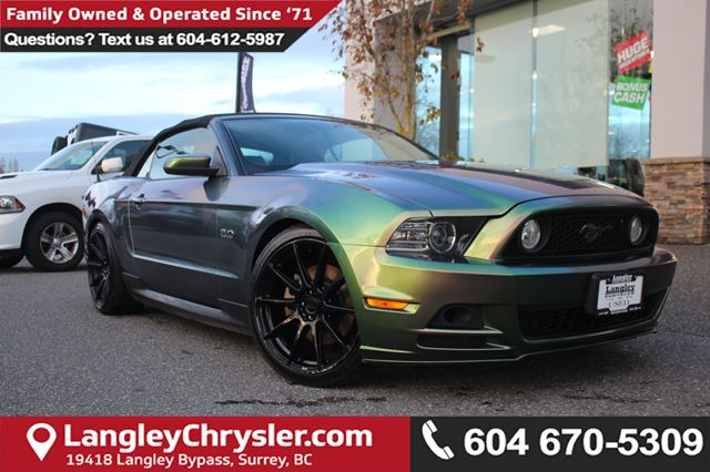 2014 FORD MUSTANG GT *LOCAL BC CONVERTIBLE* DEALER INSPECTED* in Surrey, British Columbia