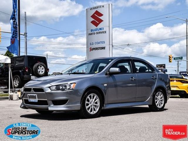 2012 MITSUBISHI LANCER ~Heated Seats  ~Power Sunroof ~Confident Handling in Barrie, Ontario