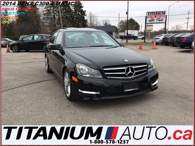 2014 MERCEDES-BENZ C-CLASS C300+4 Matic+GPS+Camera+XM Radio+BlueTooth+Sunroof in London, Ontario