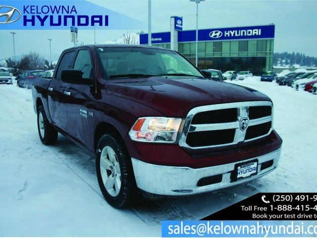 2016 DODGE RAM 1500 SLT 4x4 Crew Cab 5.6 ft. box 140 in. WB in Kelowna, British Columbia