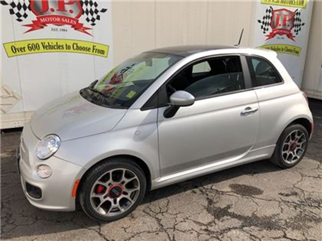 2012 FIAT 500 Sport, Automatic, Leather, Sunroof, 27, 000km in Burlington, Ontario
