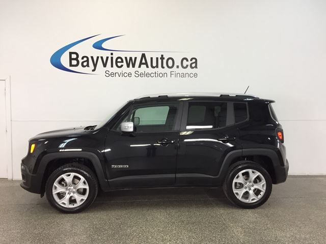 2017 JEEP RENEGADE LTD- 4x4|HTD LTHR|NAV|PWR TRUNK|REMOVABLE ROOF! in Belleville, Ontario