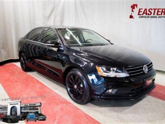 2017 VOLKSWAGEN JETTA Wolfsburg Edition ALLOW WHEELS MOONROOF MP3 PLAYER in Winnipeg, Manitoba