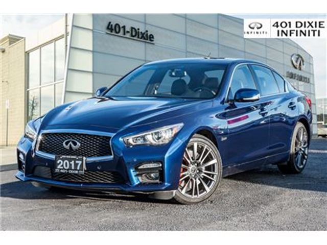 2017 INFINITI Q50 AWD, RED SPORT! Driver Assist Pkg! 360 Camera! in Mississauga, Ontario
