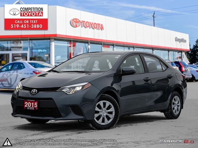 2015 TOYOTA Corolla CE Toyota Certified, One Owner, Toyota Serviced in London, Ontario