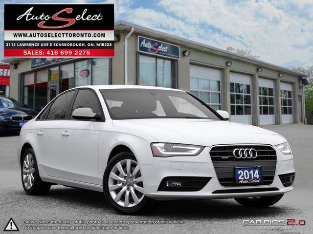 2014 AUDI A4 Quattro AWD ONLY 69K! **CLEAN CARPROOF** LED LIGHTING PKG in Scarborough, Ontario