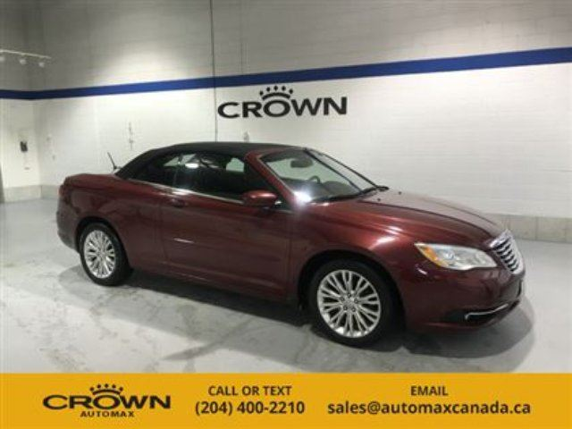 2013 CHRYSLER 200 Touring Convertible! *Remote Start/ Heated Seats* in Winnipeg, Manitoba