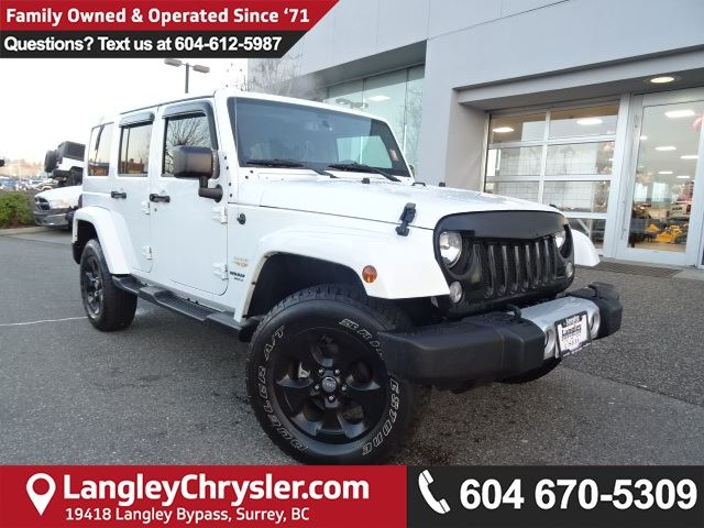 2015 JEEP WRANGLER Unlimited Sahara *LOW KMS*LOCALLY OWNED*DEALER INSPECTED* in Surrey, British Columbia