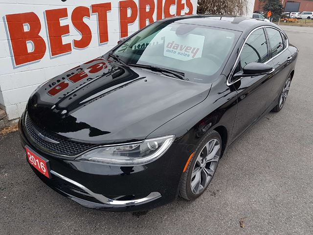 2016 CHRYSLER 200 C POWER SUN ROOF, REMOTE STARTER, NAVIGATION in Oshawa, Ontario