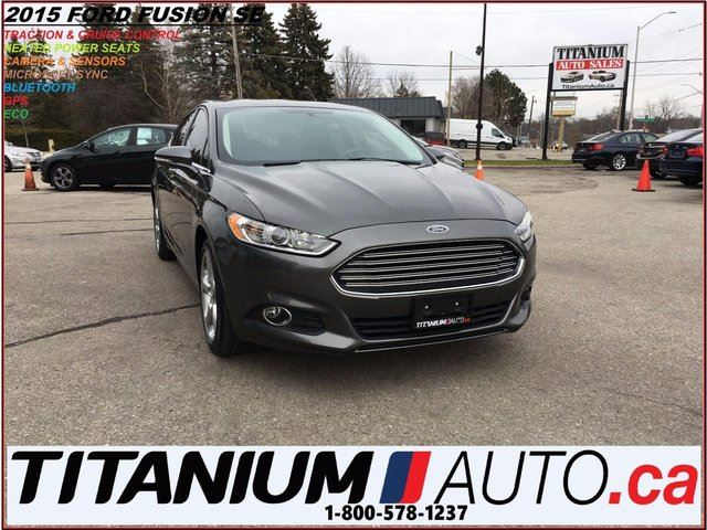 2015 FORD FUSION SE+2.0L EcoBoost+Camera+GPS+Remote Start+Heated Se in London, Ontario