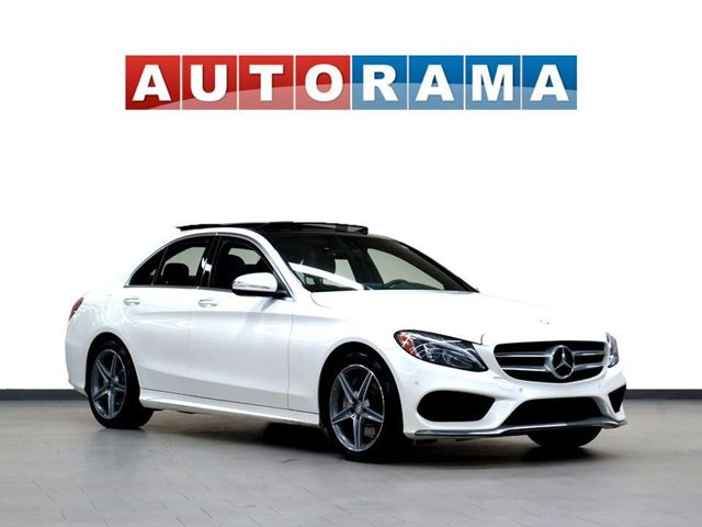 2015 Mercedes-Benz C-Class NAVIGATION LEATHER PANORAMIC SUNROOF AWD BACKUP CA in North York, Ontario
