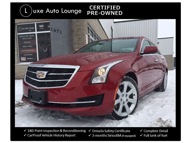 2015 CADILLAC ATS 2.0 TURBO AWD, SUNROOF, CUE WITH BOSE SURROUND SOUND, PREMIUM RED TINT COAT PAINT, BALANCE OF FULL GM WARRANTY, LUXE CERTIFIED PRE-OWNED! in Orleans, Ontario