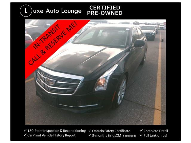 2015 CADILLAC ATS 2.0 TURBO 6-SPEED MANUAL! SUNROOF, CUE, BOSE SURROUND SOUND, ONLY 46K! LUXE CERTIFIED PRE-OWNED! in Orleans, Ontario
