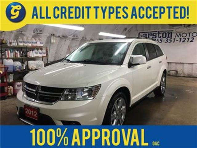 2012 DODGE JOURNEY R/T*AWD*NAVIGATION*POWER SUNROOF*U CONNECT PHONE*W in Cambridge, Ontario