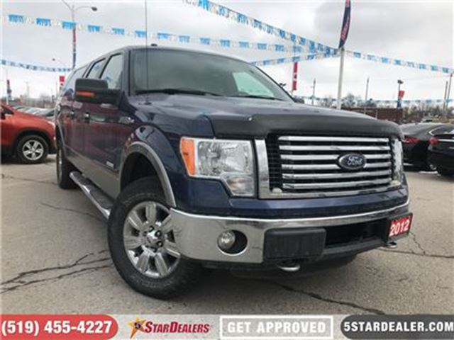 2012 FORD F-150 XLT   4X4   ECOBOOST   SAT RADIO in London, Ontario