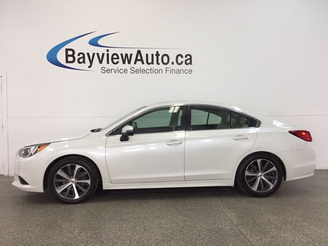 2015 SUBARU LEGACY LTD- AWD|SUNROOF|HTD LTHR|NAV|BSA|REV CAM! in Belleville, Ontario