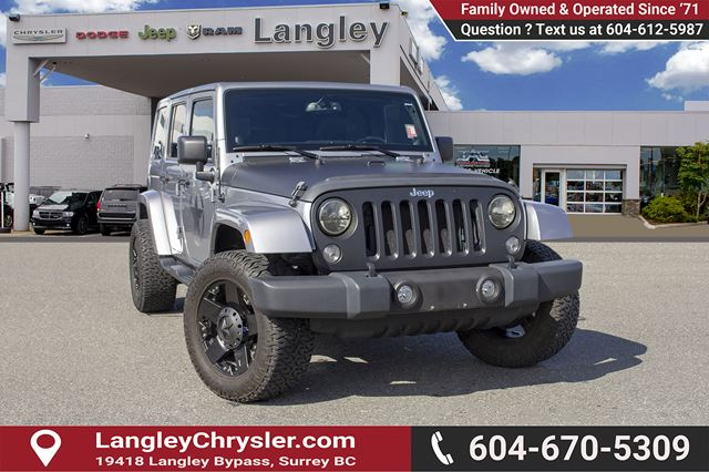 2014 JEEP WRANGLER Unlimited Sahara *ACCIDENT FREE*ONE OWNER*LOCAL BC JEEP* in Surrey, British Columbia