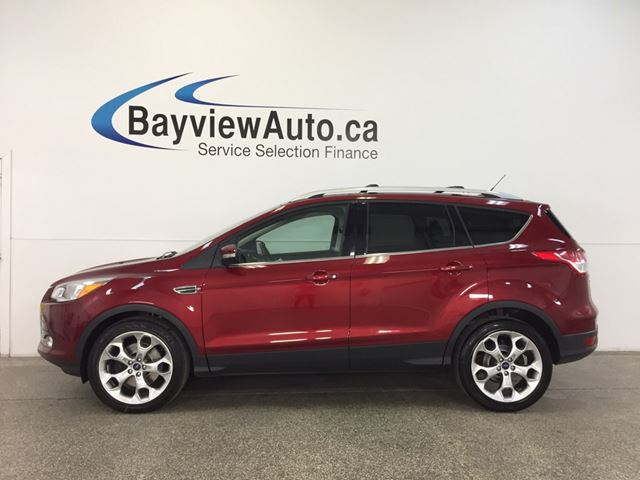 2015 FORD ESCAPE TITANIUM- 4WD|REM STRT|PANOROOF|HTD STS|NAV|SYNC! in Belleville, Ontario