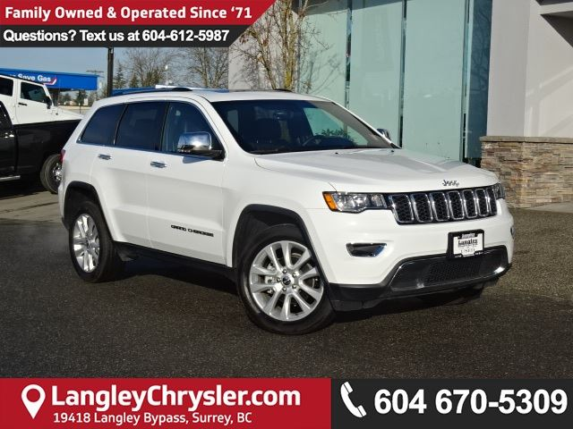 2017 JEEP GRAND CHEROKEE Limited * ACCIDENT FREE * LOCAL BC CAR * DEALER INSPECTED * in Surrey, British Columbia