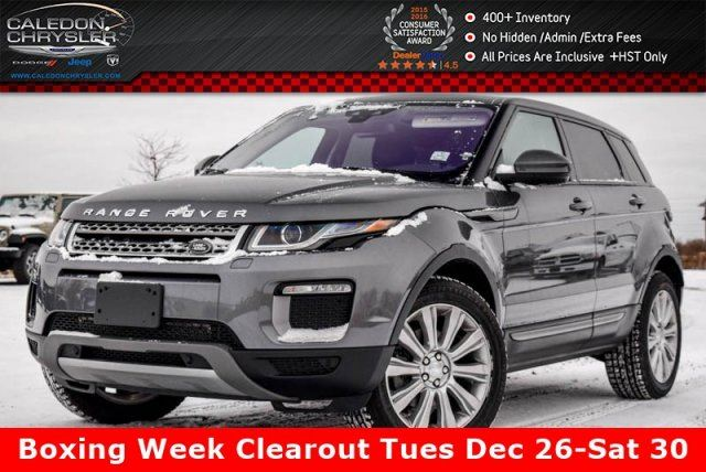 2017 LAND ROVER RANGE ROVER EVOQUE SE 4WD Navi Pano Sunroof Backup Cam Bluetooth Leather 18Alloy Rims in Bolton, Ontario