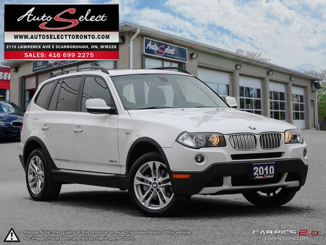 2010 BMW X3 xDrive30i AWD ONLY 182K! **PANORAMIC SUNROOF** PREMIUM PKG in Scarborough, Ontario