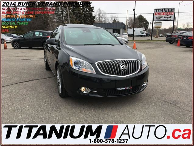 2014 BUICK VERANO Premium+Turbo+GPS+Camera+Napa Brown Seat+Sunroof++ in London, Ontario