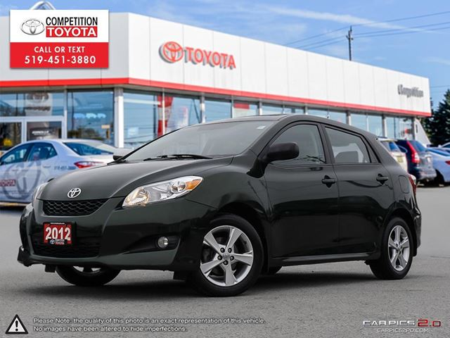 2012 TOYOTA MATRIX Base Touring Package, One Owner, No Accidents, Toyota Serviced in London, Ontario
