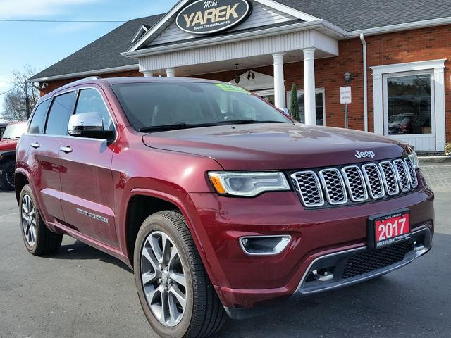 2017 JEEP GRAND CHEROKEE Overland 4x4, NAV, Tow Pkg, Air suspension, Pano Roof in Paris, Ontario