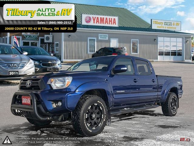 2015 TOYOTA TACOMA V6. TONNEAU COVER. PUSH BAR. TOUCH SCREEN. in Tilbury, Ontario