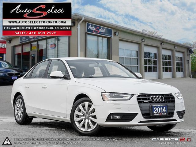 2014 AUDI A4 Quattro AWD ONLY 93K! **CLEAN CARPROOF** LED LIGHTING PKG in Scarborough, Ontario