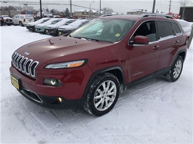 2016 JEEP CHEROKEE Limited, Leather, Heated Seats,  Only 6,000km in Burlington, Ontario