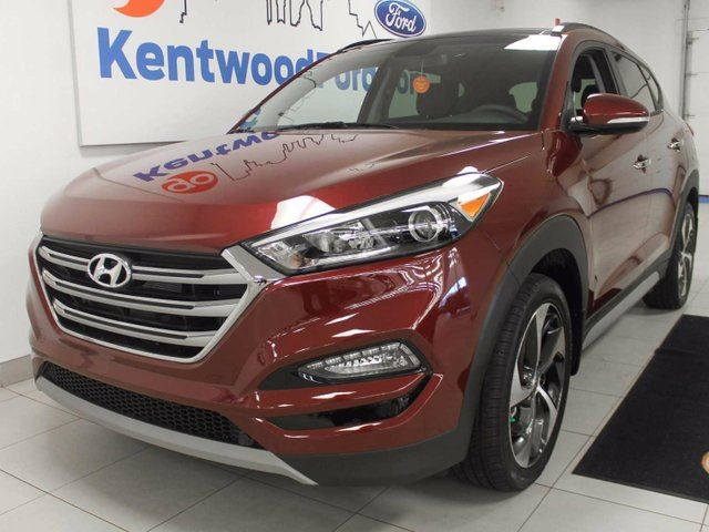 2017 HYUNDAI TUCSON Tuscon 1.6 AWD with dual panel moonroof power seats and decked out in leather in Edmonton, Alberta