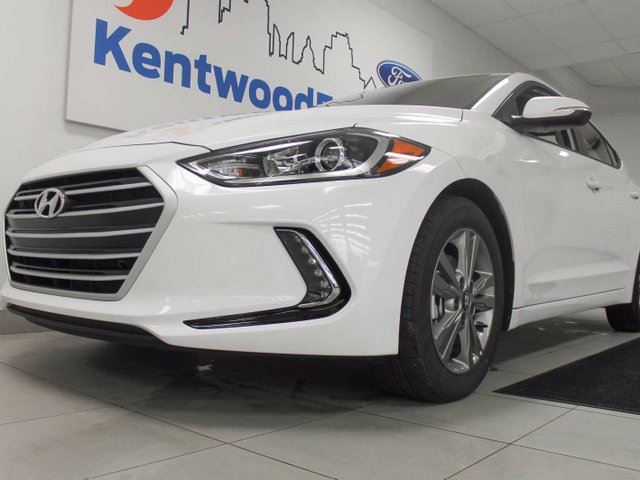 2018 HYUNDAI ELANTRA Elantra with heated seats and a back up cam. If you don't want white we have it in black too! in Edmonton, Alberta